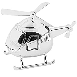 Christening Gift Beautiful Silver Helicopter Money Box By Haysom Interiors