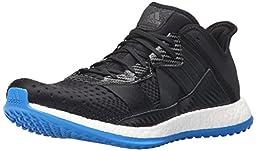 adidas Men\'s Pure Boost ZG Trainer Training Shoe, Black/Black/Shock Blue, 11.5 M US