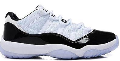 Buy Nike Air Jordan 11 Retro Low Mens Shoes White Dark Concord Black 528895-153 sz 14 by Nike