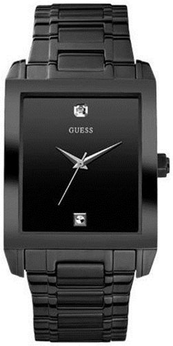 Guess Men's U12557G1 Black Stainless-Steel Quartz Watch with Black Dial