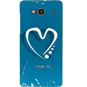 Casotec Love Design Hard Back Case Cover for Xiaomi Redmi 2 Prime