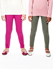 2 Pack Cotton Rich Leggings with StayNEW™