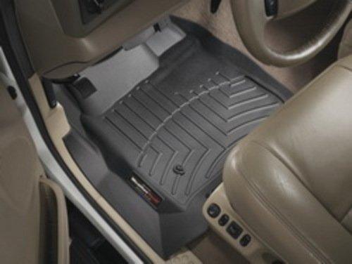 WeatherTech Custom Fit Front FloorLiner for Honda Pilot (Black) (Honda Pilot 2014 Weathertech compare prices)