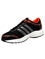 Adidas Men's Eyota Black And Orange Running Shoes