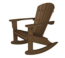 Big Sale POLYWOOD SHR22TE Seashell Rocker, Teak