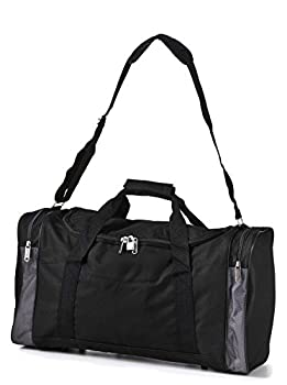 Carry On Lightweight Small Hand Luggage Cabin on Flight &Holdalls/Duffel Weekend Overnight Bags - Large Duffle Sports/Gym Bag with Shoulder Straps. 2