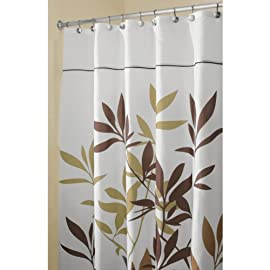 Interdesign Leaves Shower Curtain - Stall Size - Brown