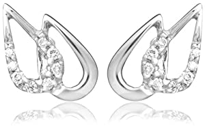Miore Diamond Earrings, 18ct White Gold, Diamond Double Drops, M0815W