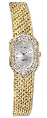 Geneve Kalle 14k Solid Gold Diamond Womens Watch W1225D