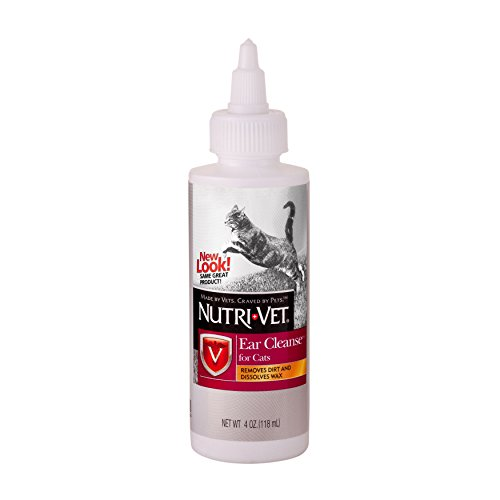 Nutri-Vet Ear Cleansing Liquid for Cats, 4-Ounce (Cat Ear Cleaner compare prices)