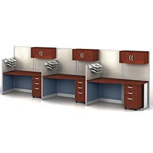 office in an hour straight desk cubicle set 3 cubicles