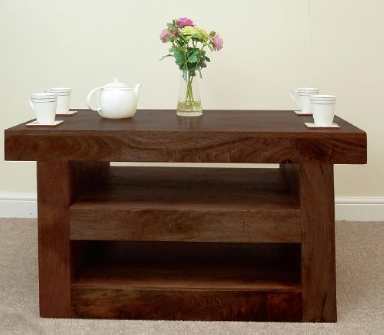Mantis Dark Solid Mango Wood TV Unit / Coffee Table By