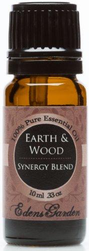 Earth & Wood Synergy Blend Essential Oil- 10 ml (Cardamom, Cedarleaf, Cedarwood, Fir Needle, Patchouli and Sandalwood)