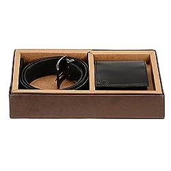 Osaiz Combo of Men's Belt and Wallet Black (570BL)