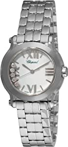 Chopard Women's 278509-3002 Happy Sport Mini Diamond White Dial Watch by Chopard