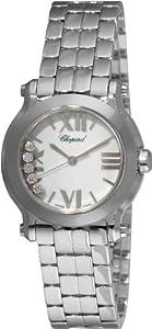 Chopard Women's 278509-3002 Happy Sport Mini Diamond White Dial Watch