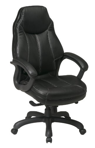 Deluxe Oversized Executive Faux Leather Chair Black