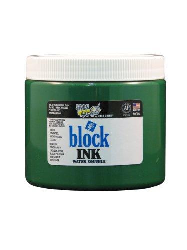 Handy Art 301-030 Water Soluble Block Printing Ink Jar, Green, 16-Ounce