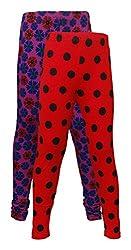 Little Stars Girls' Cotton Regular Fit Leggings- Pack of 2 (Po2Gpl_3215_20, Multi-Colour, 2-3 Years)