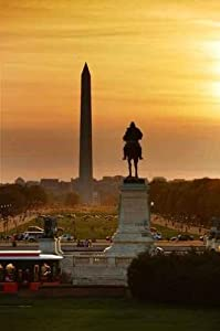 Historical architecture Wall Decals National Mall Sunset - 36 inches x 24 inches - Peel and Stick Removable Graphic