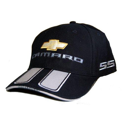 Chevrolet Black Camaro Hat Cap - SS Rally Stripe (2010 Camaro Rally Stripes compare prices)