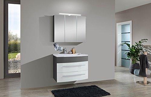 SAM-Design-Badmbel-Set-Genf-2tlg-in-wei-grau-70-cm-Breite-Mineralgussbecken-Tren-und-Schubladen-mit-Softclose-Funktion-Badezimmer-Set-bestehend-aus-1-x-Spiegelschrank-1-x-Waschplatz