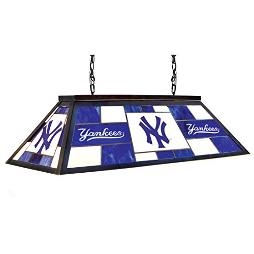 Stained Glass Billiard Light: New York Yankees Pool Table Light, Yankees Billiards Table