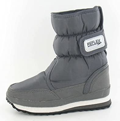 Reflex Flat Velcro Strap Snow Boot: Amazon.co.uk: Shoes & Bags