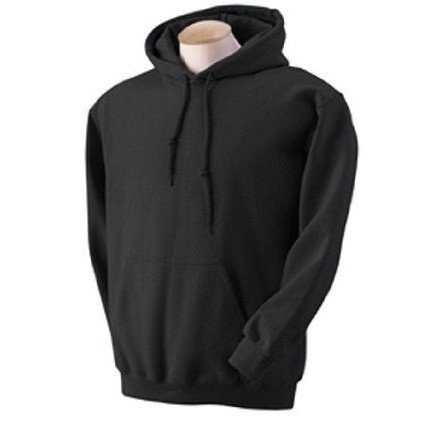 Fruit Of The Loom Mens Hooded Sweatshirt / Hoodie (L) (Black)