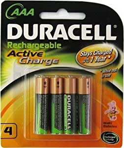 Amazon.com: AAA Duracell Rechargeable Batteries Active