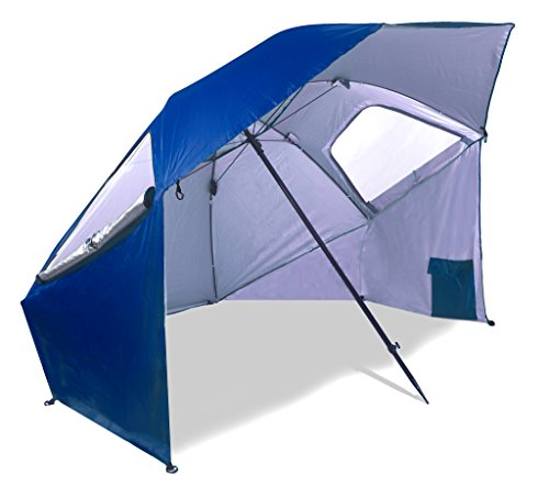 Beach-Sports-Umbrella-Large-Full-Cover-Protection-from-Sun-Rain-Wind-Shelter-Tent-Outdoors-by-MakExpress-Blue