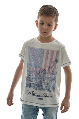 T-shirt maniche corte kaporal crag 5, colore: bianco bianco 8 anni