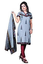Florence Women's Dress Material (SB-2306_Grey_Freesize)