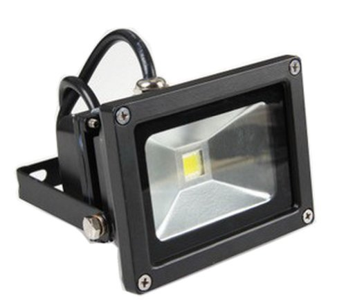 LENBO 10W 12V DC Warm White LED Flood light High Power Waterproof Outdoor Lights black case LW1