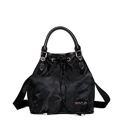 Moda borsa shopping in nylon/Oxford tessuto tracolla borsa a tracolla-B