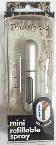Travalo Easy Refill Travel Perfume Atomizer Spray Bottle in Sleek Silver