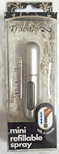 Travalo Easy Refill Travel Parfum Atomizer Spray Bottle in Sleek Silver