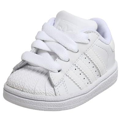 adidas Originals Superstar 2 Sneaker (Little Kid/Big Kid),White/White/White,10.5 M US Little Kid