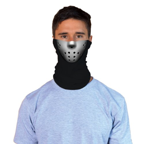 Jason-Style Hockey Mask Adult Halloween Costume Face Gaiter