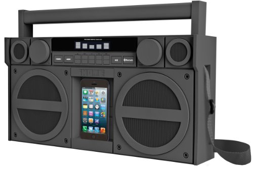 Ihome Bluetooth Portable Fm Stereo Boombox With Usb Charging In Rubberized Finish - Gunmetal (Ibn44Gc)
