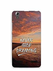 YuBingo Never Stop Dreaming Designer Mobile Case Back Cover for Lenovo A6000 Plus