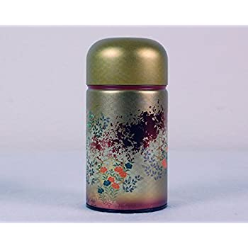 Ryu Mei Shounosato Japanese Metal Tea Tin [ Red ]
