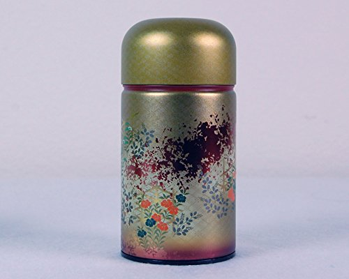 Ryu Mei Shounosato Japanese Metal Tea Tin [ Red ] 1