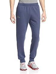 Kappa Men's Vesame Slim Fit Fleece Jogger Pants, Navy/Acid Green, Large