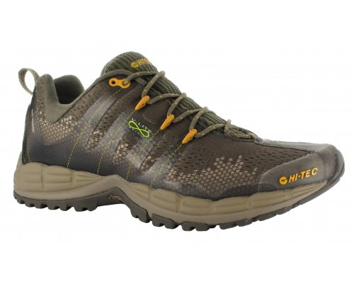 HI-TEC V-Lite Infinity HPi Mens Trail Running Shoes, Olive/Taupe/Sunflower, UK9
