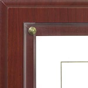 amazoncom walnut grove slide in certificate plaque and With slide in certificate plaque and document holder