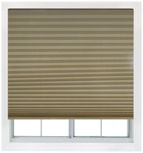 Easy Lift, 36-inch by 64-inch, Trim-at-Home (fits windows 21-inches to 36-inches wide) Cordless Pleated Shade, Light Filtering, Natural (Light Filtering Shades compare prices)