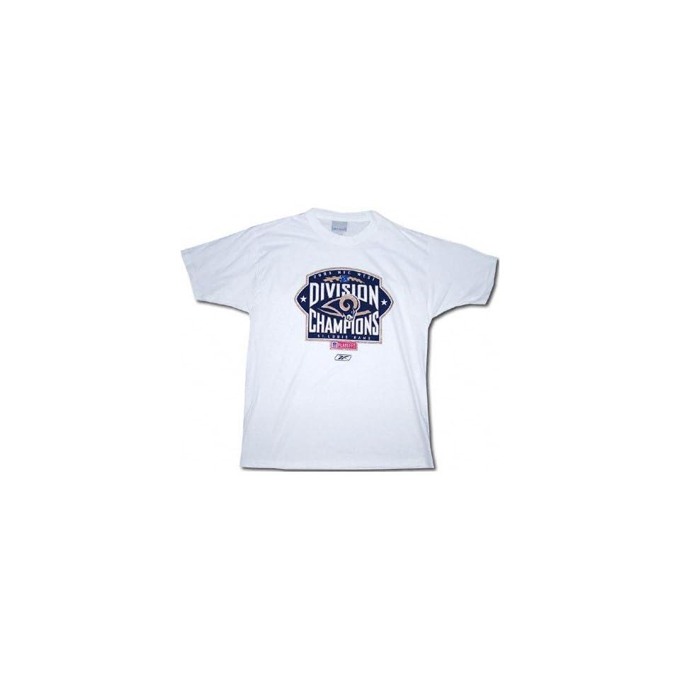 St. Louis Rams 2003 NFC West Division Champions Official Locker Room T Shirt 376e6e9d8