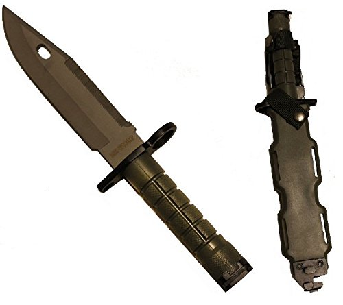 Ultimate Arms Gear Tactical Limited Edition OD Olive Drab Green Handle Stainless Steel M9 M-9 Military Survival Blade Bayonet Knife