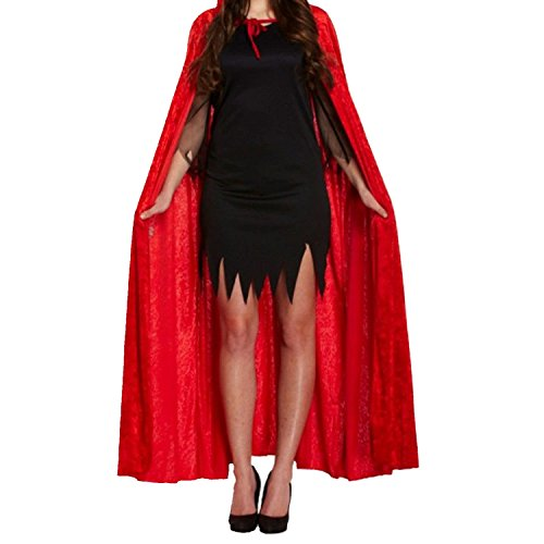Acediscoball Women's Velvet Cape with Hood Halloween Witch Costume Cloak